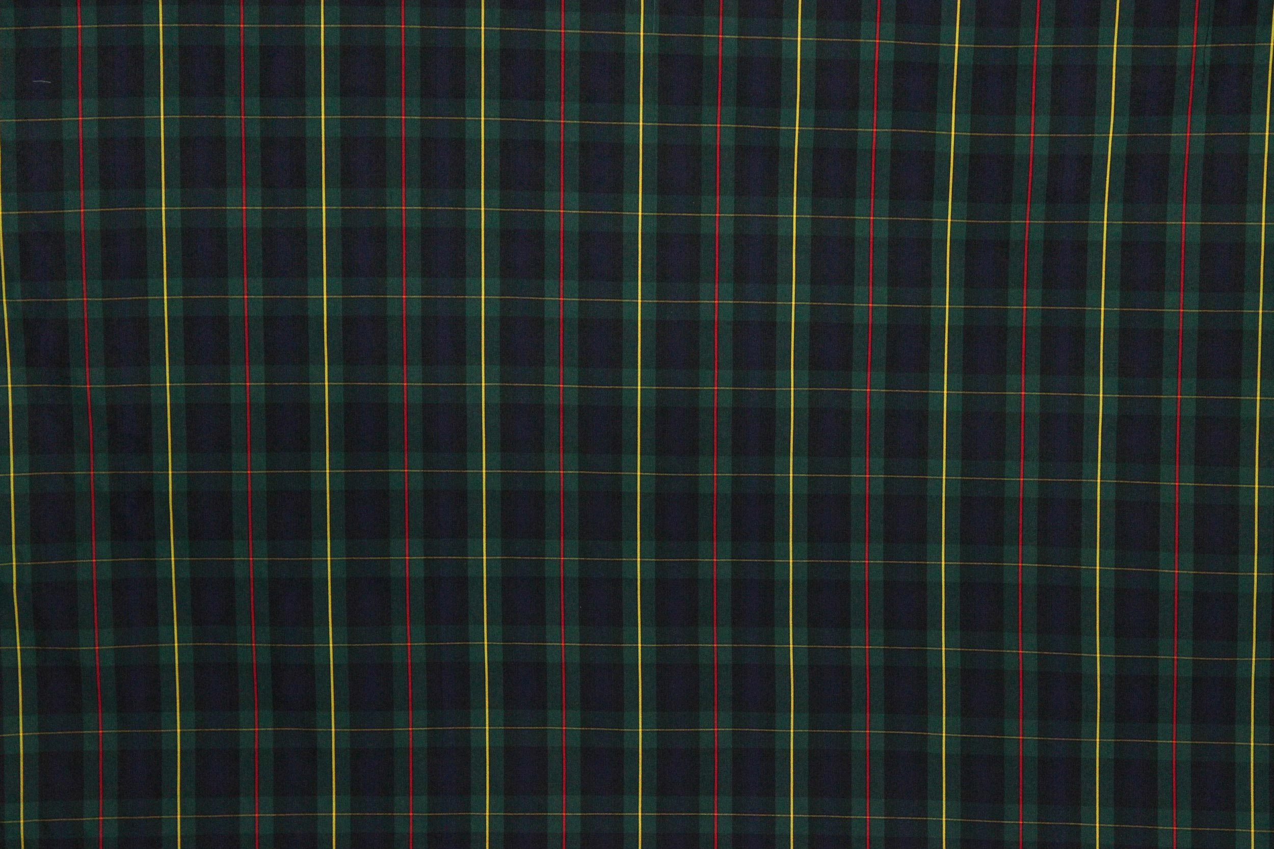Tartan Plaid Fabric | Green/Navy/Yellow/Red -The Fabric Mill