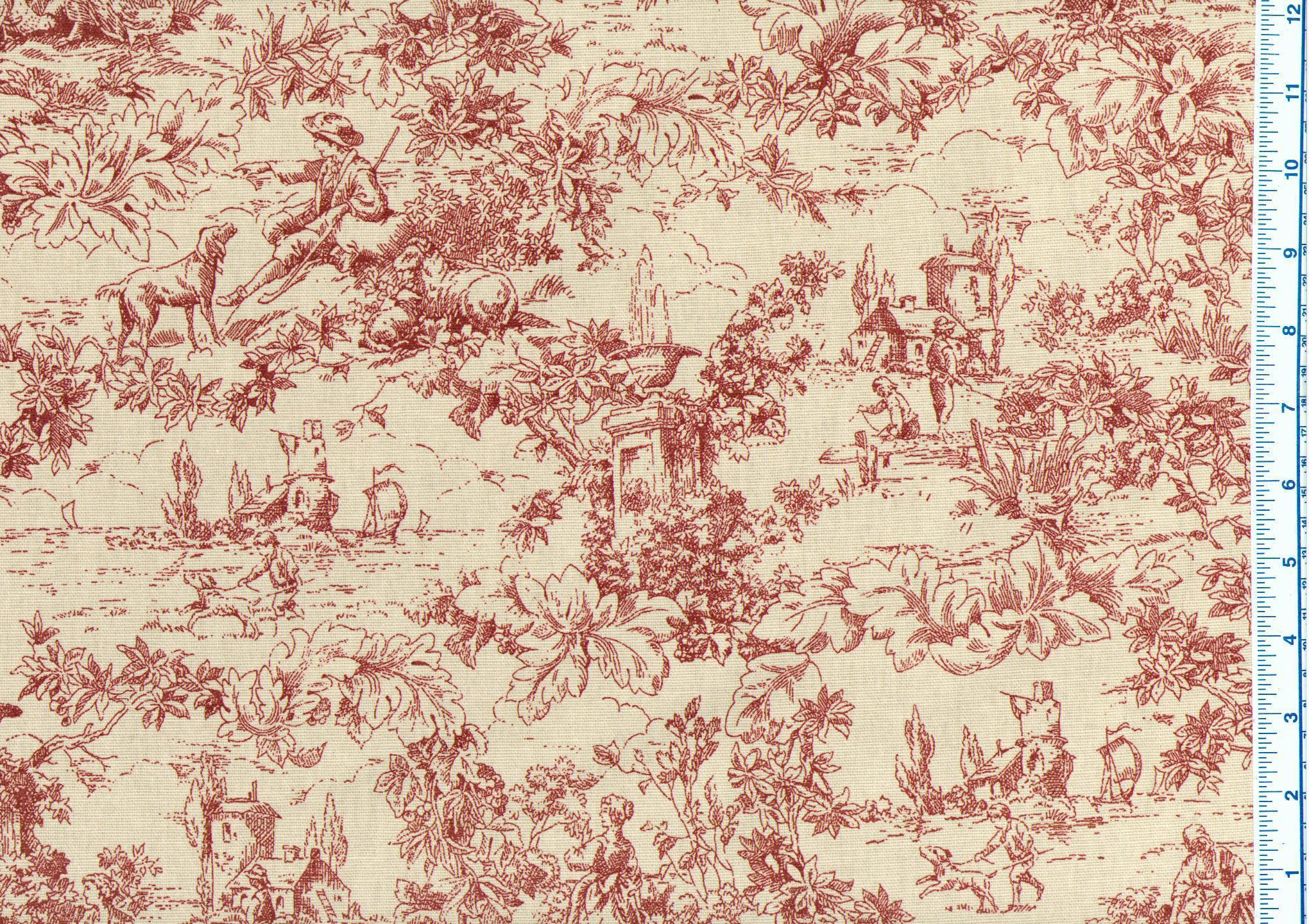 toile upholstery fabric