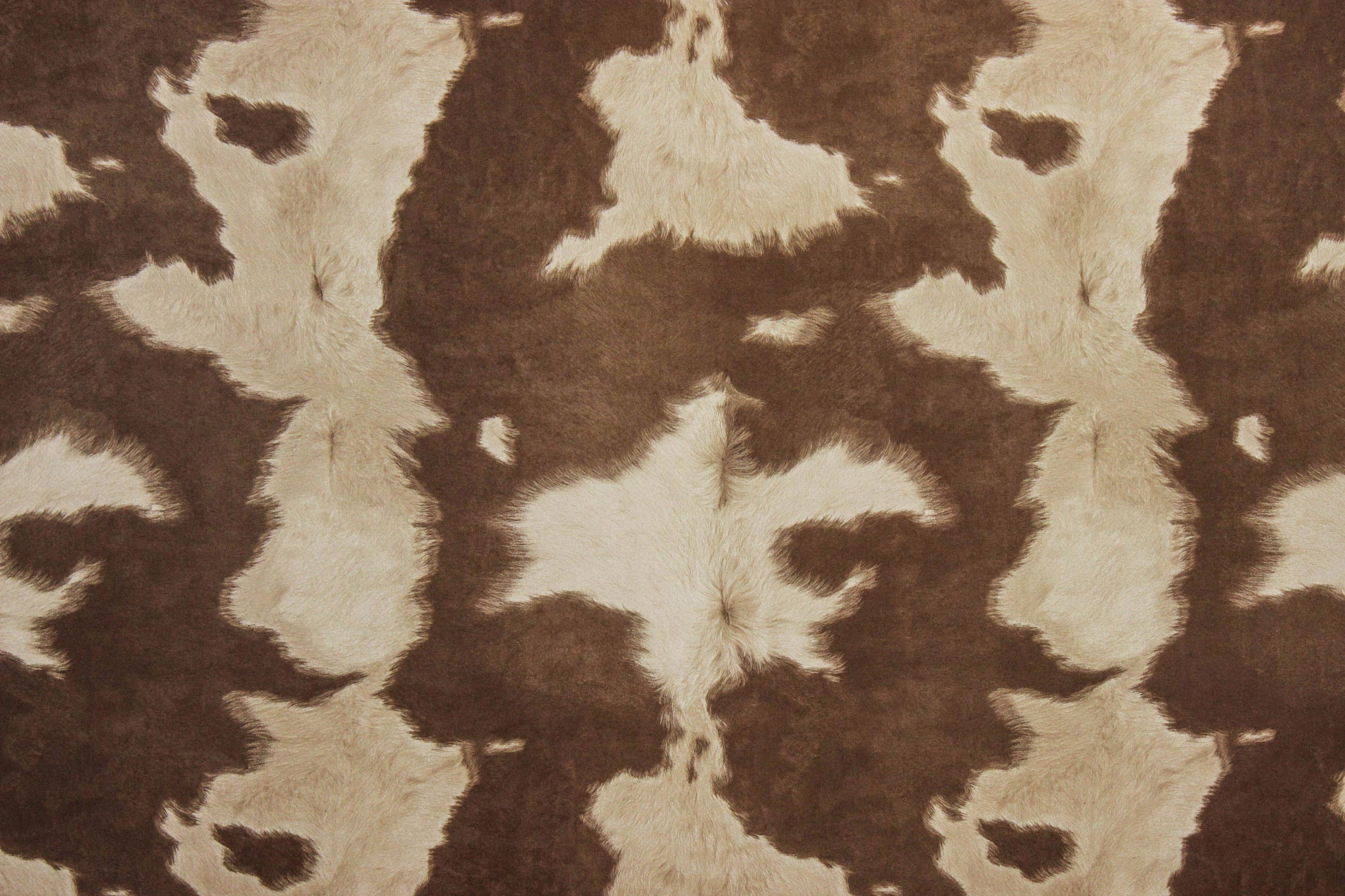 Suede Cowhide Fabric Brown White The Fabric Mill