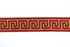 Greek Key Cranberry HT-601