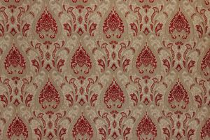 Damask Chenille Red