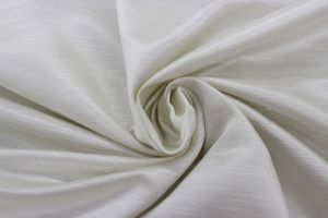Shantung 118 inch wide White Siena