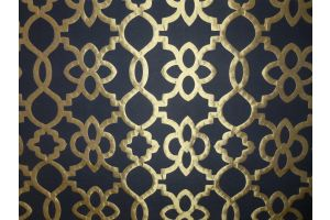 Tessuto Metropolis Lattice Black Gold