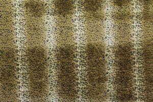 Faux Fur Leopard Gold