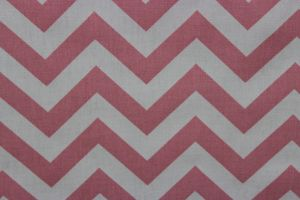 Premier Prints Zig Zag Baby Pink/White