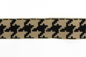 Burlap Tape Greek Key Black 02 BR-734