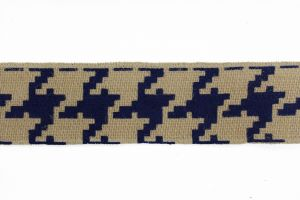 Burlap Tape Greek Key Blue 05 BR-734