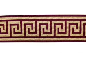 Greek Key Braid Burgundy 17 6-Inch Wide BR-7500