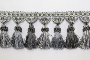 Tassel Fringe BF-1478 49/11 Gray/Silver