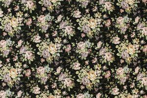 Black Chenille Flowers