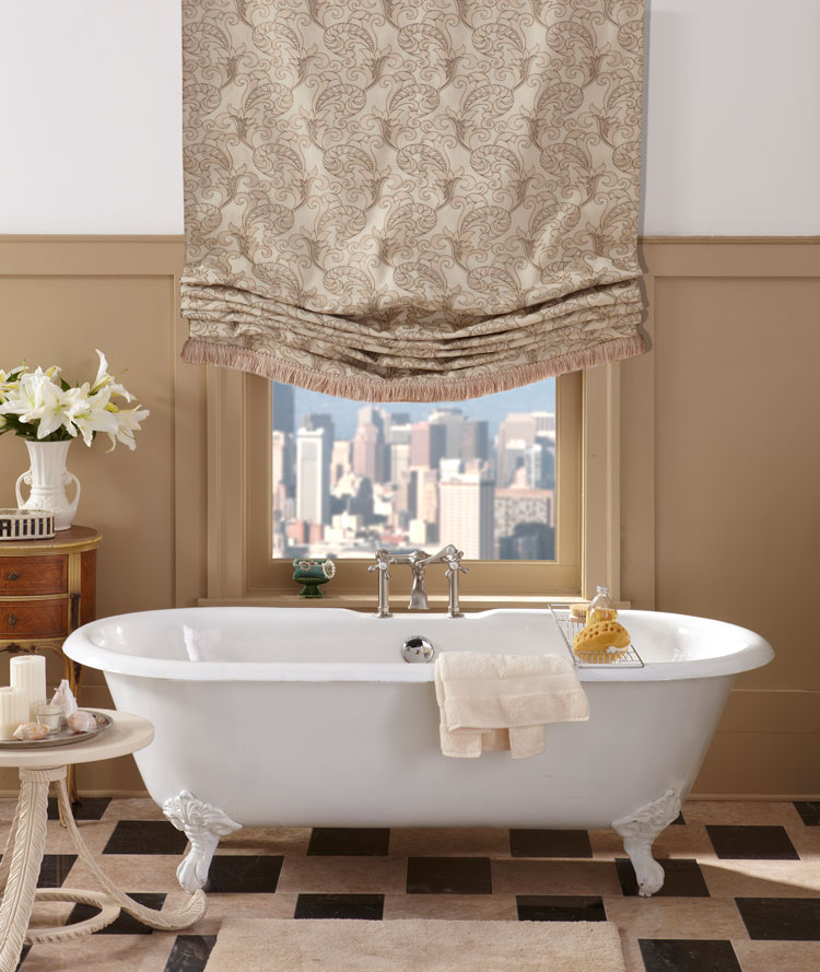 Fabric Shades Window Treatments Roman London The