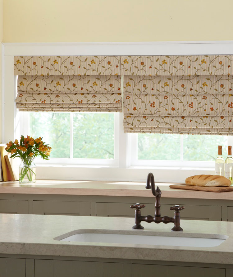 Shades Flat Fold Classic Roman Shade The Fabric Mill